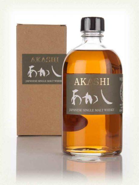 Bottle of White Oak Akashi whisky