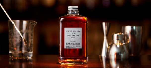 Bottle of Nikka from the Barrel with dark background