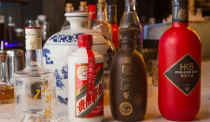 Baijiu on the bar