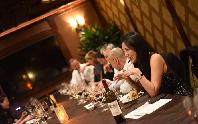 Changyu Moser Tasting Dinner group at table