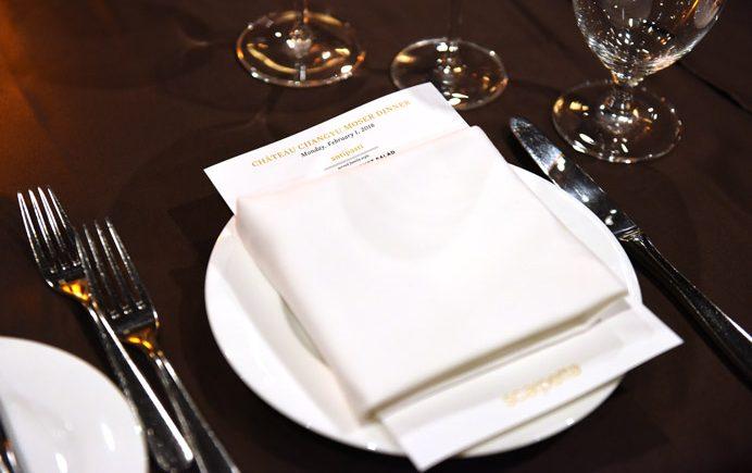 Changyu Moser Tasting Dinner plate setting