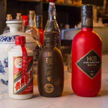 Baijiu on the bar