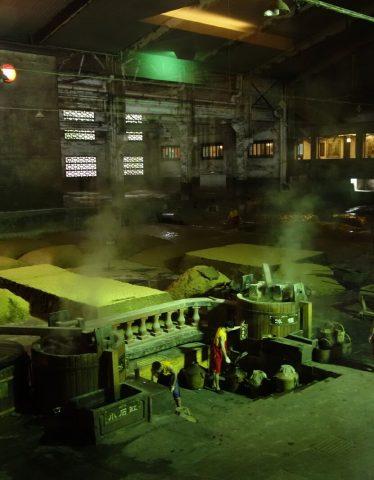 Historic image of Baijiu making process