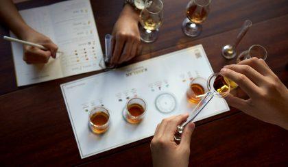Whisky tasting sheets.